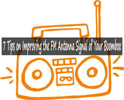 fm antenna signal of your boombox