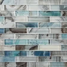 oceano linear mosaic tile bathroom