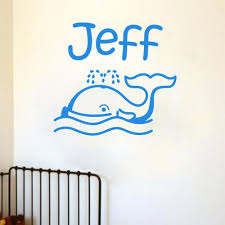Whale Personalized Vinyl Decal Wall Decor Art Sticker Kiscus