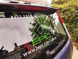 Bepic Range Car Decal Invogue Designs