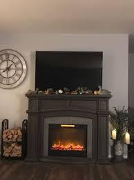 62 grand gray electric fireplace big