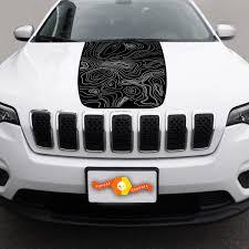 2014 2018 Jeep Cherokee Latitude Vinyl Hood Decal Sticker Graphic Stripe