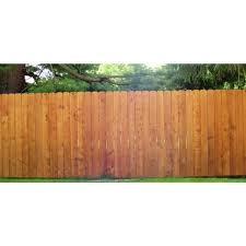 Unbranded 19 32 In X 5 1 2 In X 6 Ft Cedar Dog Ear Fence Picket 1230 The Home Depot