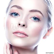 young woman face attractive