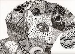 The Dog Of Zen Zentangle Animals Zentangle Drawings