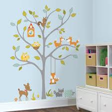 Woodland Fox Friends Tree Giant Wall Decals Dena Designs