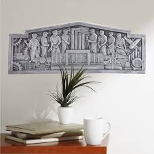 Salute To Industry Plaque Wall Decal At Retro Planet