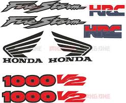 honda hrc firestorm stickers set mxg