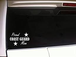 Amazon Com Proud Coast Guard Mom 6 Vinyl Sticker Decalf36 Troops Pride Support Love America United States Soldier Military Family Home Kitchen
