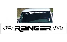 Graphic Express Ford Ranger With Ovals Windshield Decal 3 X 37