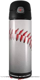 Amazon Com Skin Decal Wrap For Thermos Funtainer 16oz Bottle Baseball Bottle Not Included By Wraptorskinz Kitchen Dining