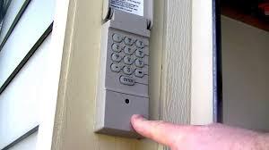 are keypad garage door controls safe