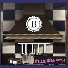 Coffee Coaster Border Letter B Monogram Letters Vinyl Wall Decal Sticker Mural Quotes Words Mg003b Swd
