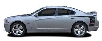 2011 2014 Dodge Charger Quarter Panel Decals Recharge Hockey Rt Stripes Mopar Style Vinyl Graphics Kit