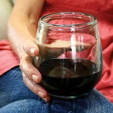 recycled glass stemless wine glasses