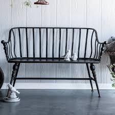 marchant metal garden bench metal
