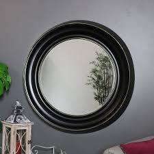 large round black wall mirror 86cm x
