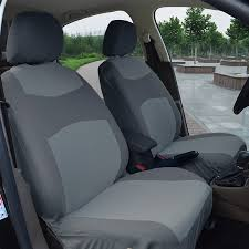 fabric front seat covers 160 gray for