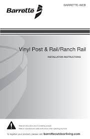 Freedom 73025466 White Vinyl Farm Fence End Post Installation Guide Manualzz