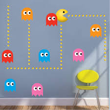 Modern Pac Man Wall Decal Video Game Wall Decal Murals Primedecals