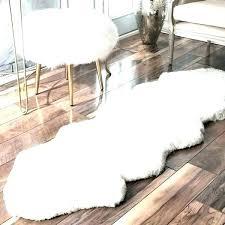 faux sheepskin rug white fur rug