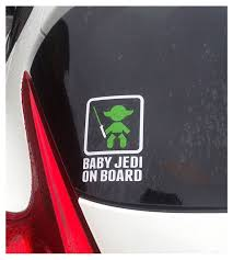 Baby Jedi Master On Board Vinyl Decal Sticker Leftcoast Graphics