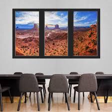 Vwaq 3d Window Wall Stickers For Office Monument Valley Desert Lands