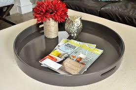 dark brown tray ottoman tray large