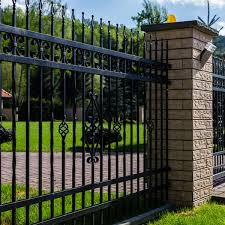 Gates And Ornamental Fence With A Brick Post The Fence Masters