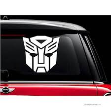Autobot Transformer White 5 Vinyl Decal Sticker For Car Automobile Window Wall Laptop Notebook Etc Any