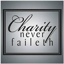 com christian wall decal art charity never faileth wall