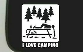 I Love Camping Sticker Decal For Yeti Cup Tumbler Ebay