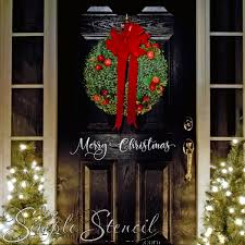 Merry Christmas Removable Wall Or Window Sticker Decal Stencil