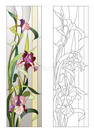 fl stained glass pattern stock