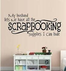 Scrapbooking Supplies Vinyl Wall Decal Sticker Home Decor Hobbies Ebay
