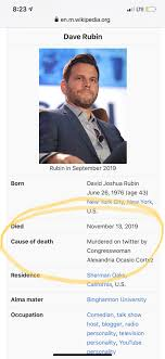 Somebody updated Dave Rubin's Wikipedia page, in light of his ...