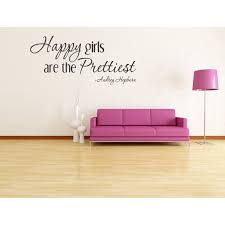 Audrey Hepburn Happy Girls Are The Prettiest Vinyl Wall Lettering Art Quotes Words Quote Decal Inspirational Saying Every Girl Should Love Sticker Teen Decoration 83 Walmart Com Walmart Com