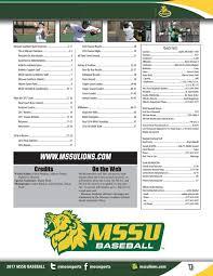 2017 MSSU Baseball Guide by Justin Maskus - issuu