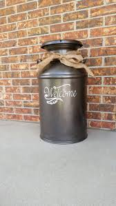 Welcome Decal For Milk Can Front Door Or Other Front Porch Etsy