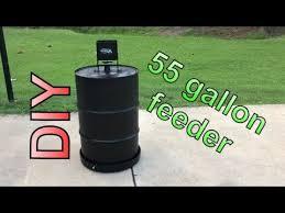 diy 55 gallon drum feeder you