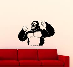 King Kong Poster Wall Decal Movie Vinyl Sticker Godzilla Etsy