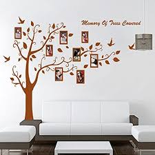 Let S Diy Removable Pvc Decals Large Brown Family Photos Tree Wall Stickers For Living Room Diy