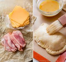 homemade ham cheese pockets
