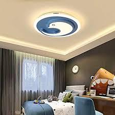 Litfad Dimmable Modern Art Deco Ceiling Light Dolphin Design Led Flushmount Pendant Light In Blue For Living Room Children S Room Kids Bedroom Ul Listed Amazon Com