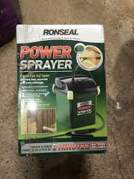 Ronseal Precision Finish Fence Paint Sprayer Batteries Visual Motley