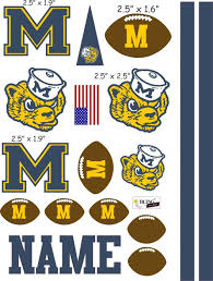 University Of Michigan Cranial Band Decoration From High Quality Vinyl