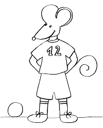 Tranh tô màu con chuột đá bóng « in hình này