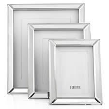 naples antique silver mirror frame