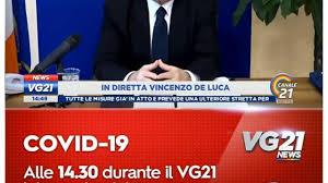 IL PUNTO DI VINCENZO DE LUCA DEL 10/04/2020 - VG21 di CANALE 21 ...