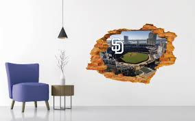 San Diego Padres Stadium Wall Decal Egraphicstore